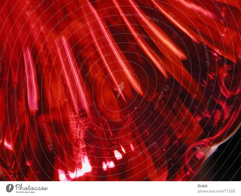rotes Glas Vase Fototechnik