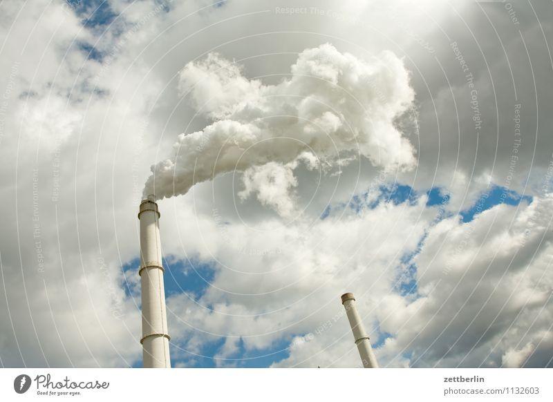 Ein Tag in der Wolkenfabrik Berlin Wolkendecke Wetter Meteorologie Wetterdienst Schornstein Rauch Abgas Umweltverschmutzung Emission Schadstoff