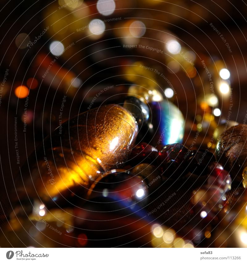 kette I Weihnachten & Advent blau rot gelb Farbe braun Glas Reichtum Perle Kette festlich