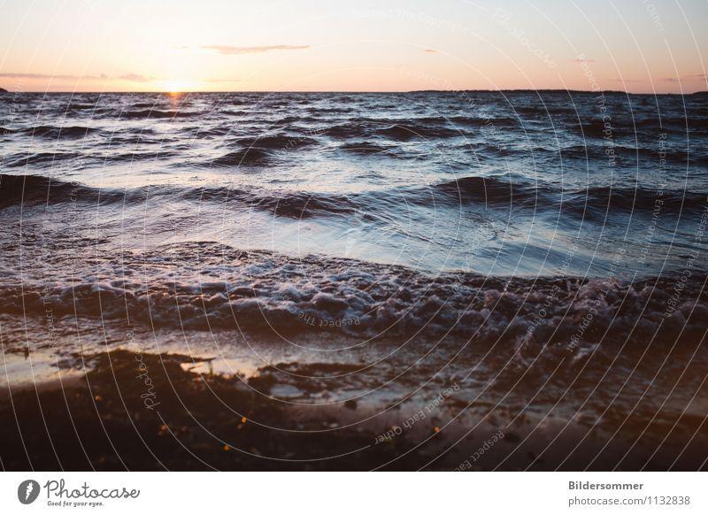 let's put heads underwater Ferien & Urlaub & Reisen blau Sommer Erholung Meer ruhig Strand Ferne Küste Freiheit Schwimmen & Baden Horizont träumen orange Wellen frei