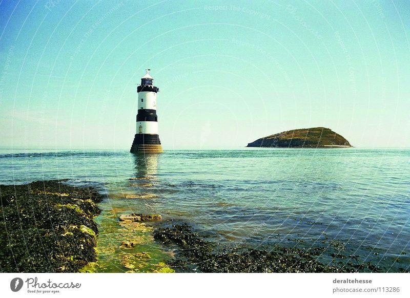 Leuchtturm Meer Ferien & Urlaub & Reisen Aussicht Wales Erholung Architektur England Insel