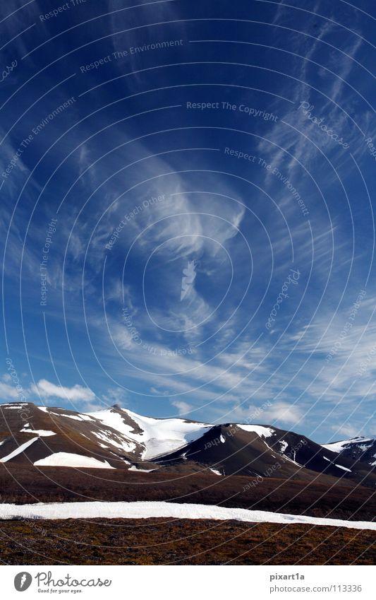 Himmel über Spitzbergen Wolken Schnee Berge u. Gebirge Europa Insel Niveau Norwegen
