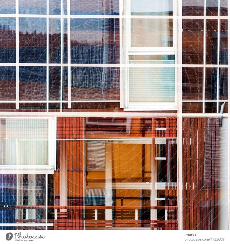 Fensterei Lifestyle elegant Stil Design Gebäude Architektur Fassade Linie Häusliches Leben außergewöhnlich eckig trendy modern verrückt Ordnung Perspektive
