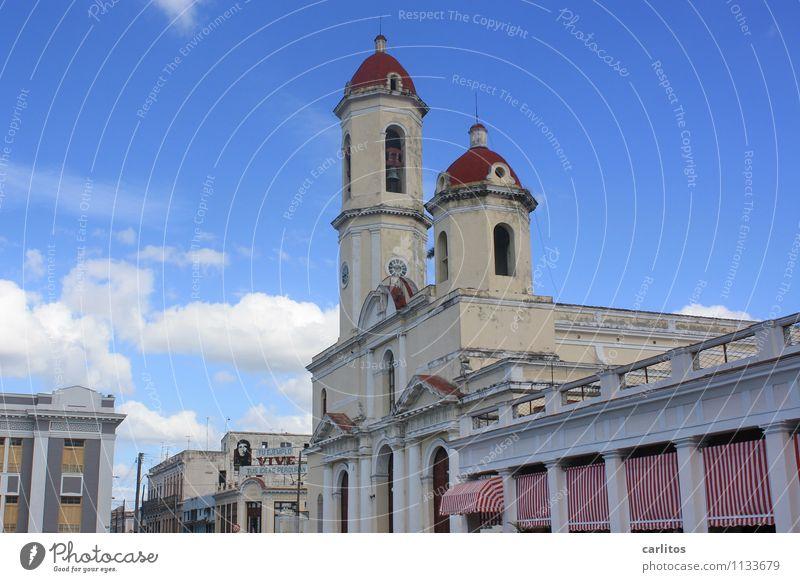 Nuestra Señora de la Purísima Concepción in Cienfuegos Ferien & Urlaub & Reisen alt Kirche Verfall Altstadt Kuba Markise Havanna