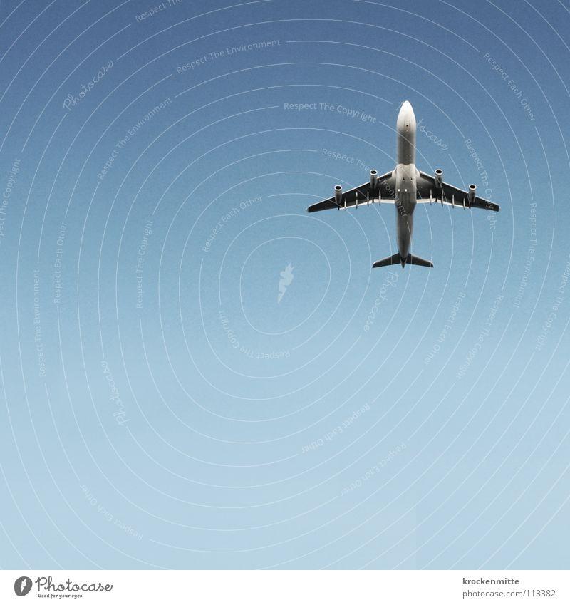 Ich nimme no'n Campari Soda Ferien & Urlaub & Reisen Flugzeug fliegen Triebwerke Luftverkehr Himmel Flügel blau