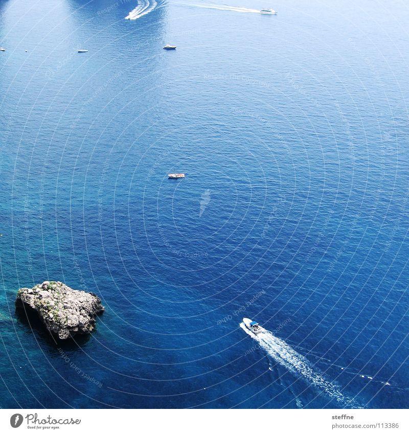 Auf der Yacht nach Dr. Hossa blau Ferien & Urlaub & Reisen Sonne Meer Erholung Wärme See Wasserfahrzeug Felsen Insel Italien Physik Club Segeln Reichtum türkis