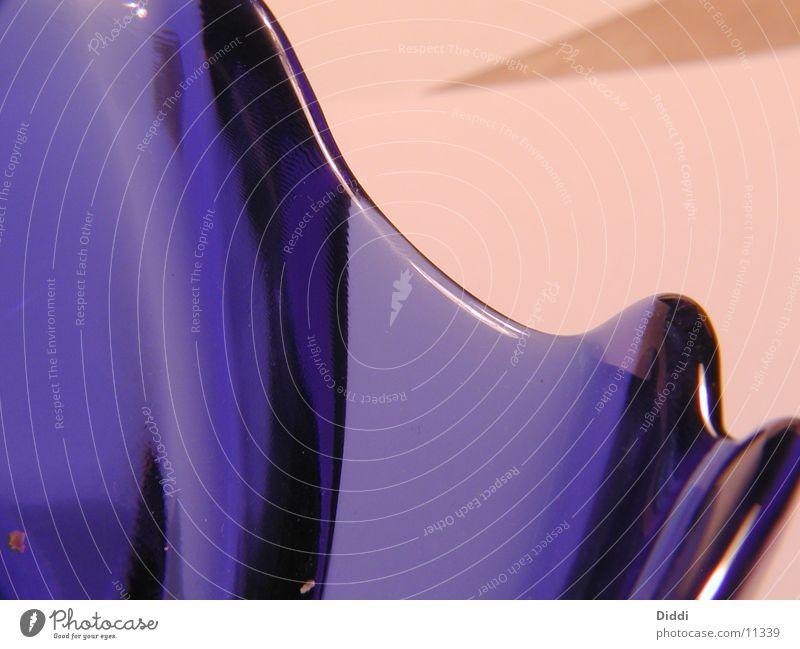 blaues Glas Kurve Schalen & Schüsseln Fototechnik