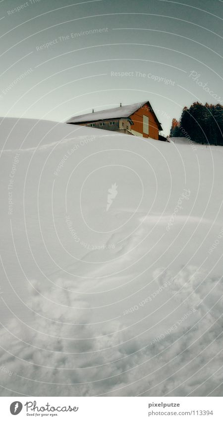 versunken im schnee Winter Schnee Schweiz Bauernhof Landwirtschaft Schneelandschaft untergehen Einsiedler