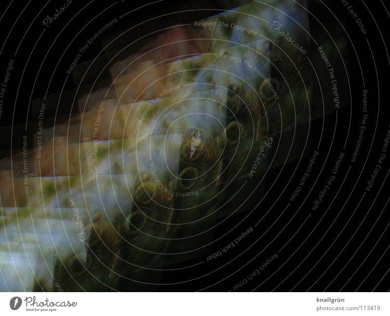 Mondlandschaft weiß grün schwarz Farbe Rechteck Ocker Vulkankrater