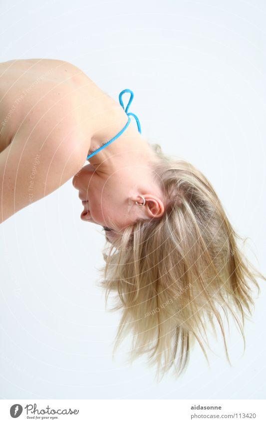 Blond blond Luft Haarsträhne Frau Haare & Frisuren zotteln