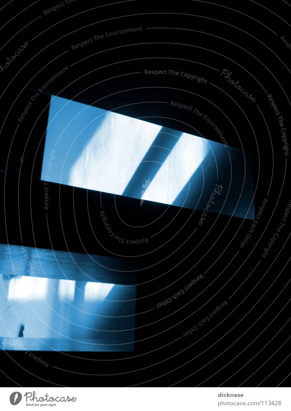 what the fuck™... blau Farbe Treppe Täuschung hm verzichten