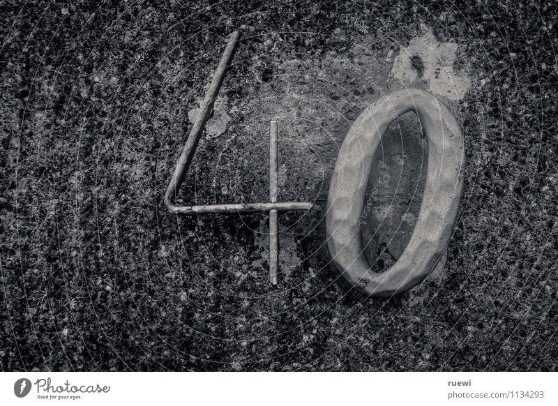 ...in 462 Tagen alt dunkel Leben Wand Senior Mauer Feste & Feiern Stein Metall Fassade Häusliches Leben Geburtstag verrückt Schriftzeichen Beton Zeichen