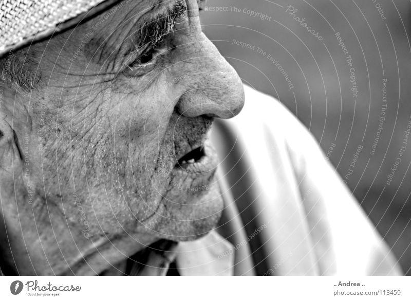 Stein(grau)alt Großvater Senior steinalt grandpa uropa Falte Schwarzweißfoto