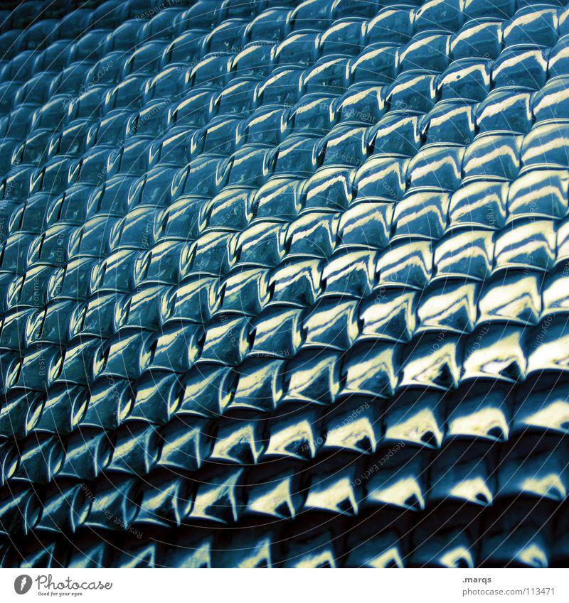 Bleu weiß blau schwarz dunkel hell glänzend Glas Hintergrundbild Ecke rund obskur Reihe Geometrie Fensterscheibe Glätte Oberfläche