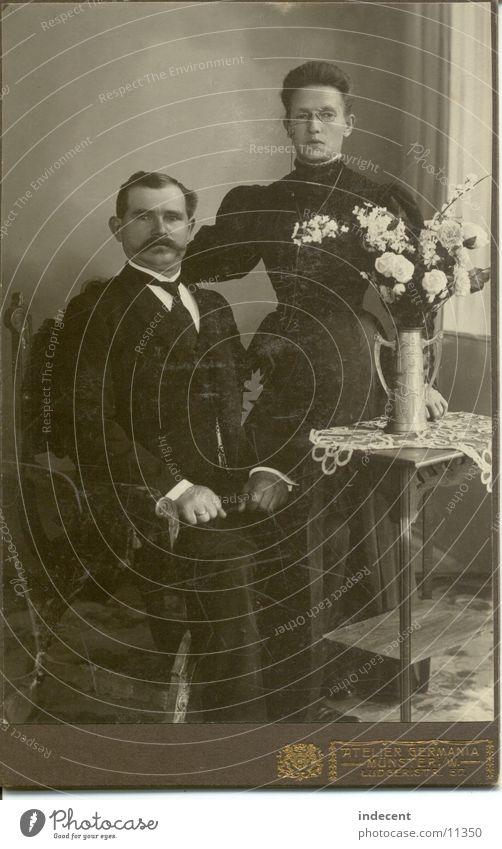 gute alte Zeiten Frau Mensch Mann Münster Oberlippenbart 1880
