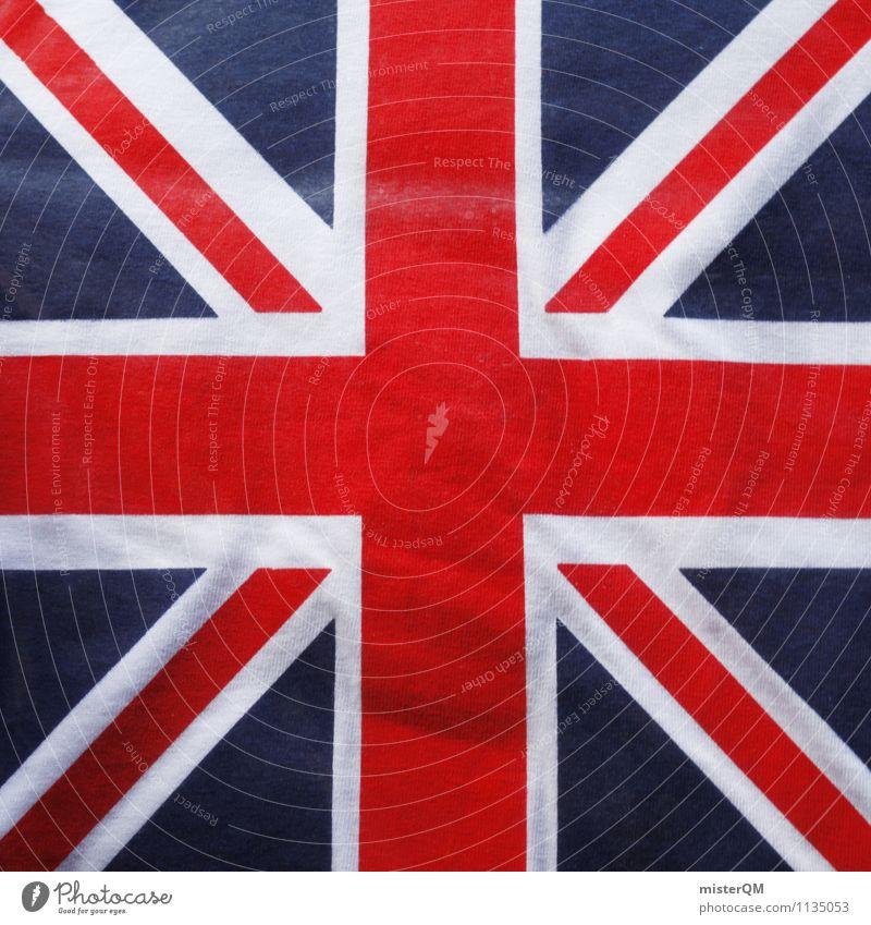 Union Jack. blau weiß rot Kunst Design Kraft Symbole & Metaphern Fahne Fernweh Wahrzeichen Kreuz London Großbritannien Nationalitäten u. Ethnien Nationalflagge