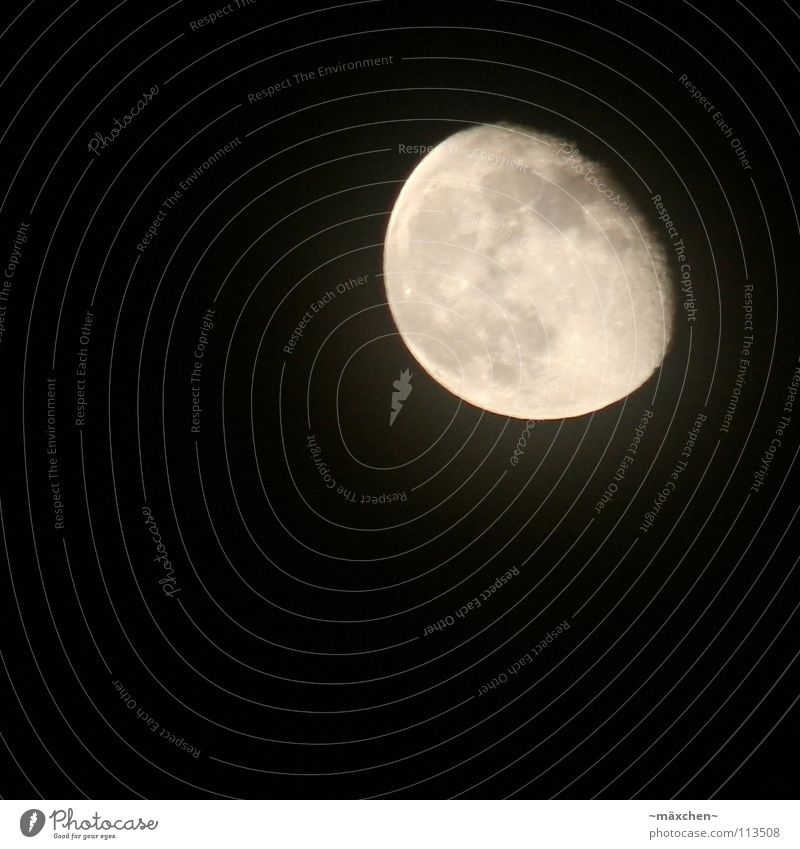 La le lu... Himmel alt weiß ruhig schwarz Ferne dunkel grau träumen hell schlafen Luftverkehr Kreis Weltall Mond Himmelskörper & Weltall