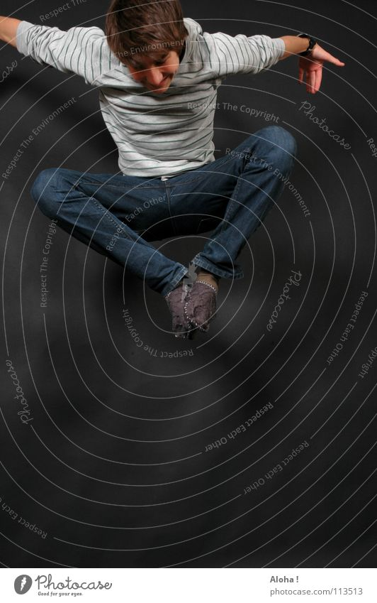 Fanta 4 - `die da` Mann Hand Freude Spielen springen Beine Fuß Kraft Angst hoch elegant gefährlich Elektrizität Schnur bedrohlich Niveau
