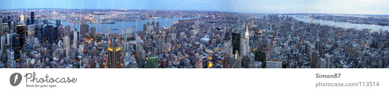 New York Panorama Meer Stadt Hochhaus New York City Panorama (Bildformat) Empire State Building