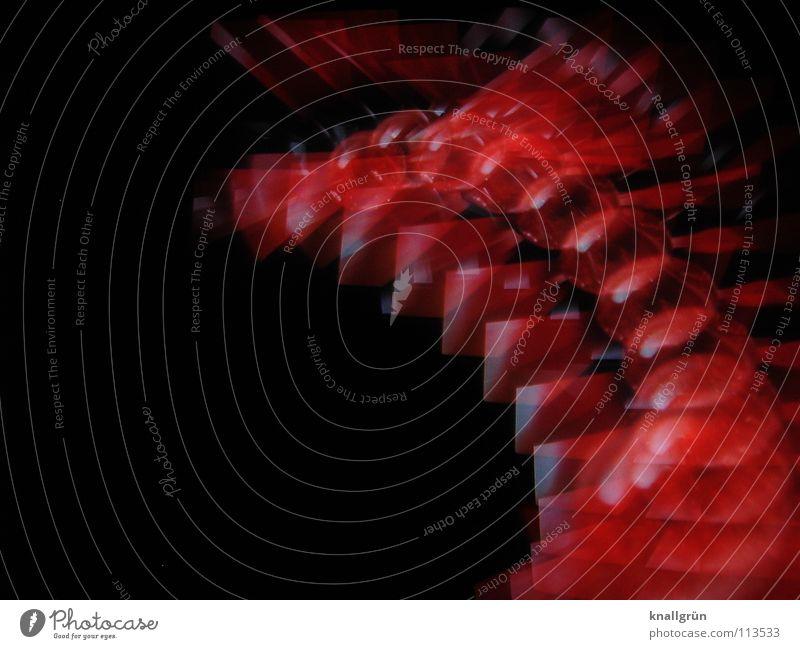 Red dot rot schwarz Farbe Kugel Dot Motion Bewegung Flying Fotokunst