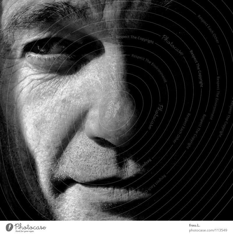 Gesicht Mensch Mann Auge maskulin geschlossen nah Typ Augenbraue typisch