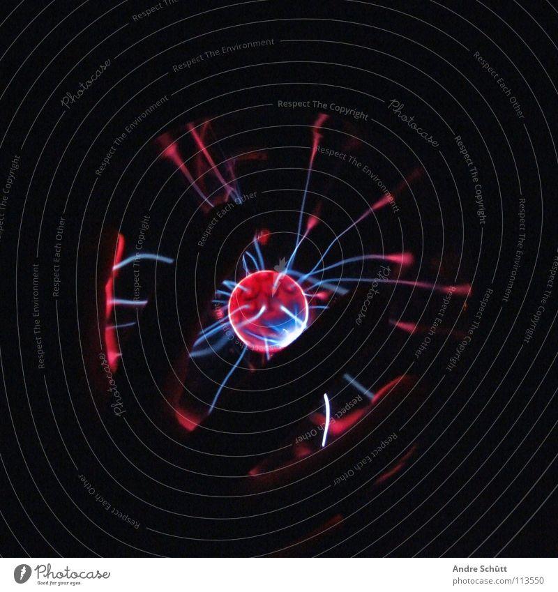 Electronized I blau rot rosa Energiewirtschaft Elektrizität retro Zukunft Technik & Technologie Physik Kugel Blitze mystisch Zauberei u. Magie elektronisch entladen Plasma