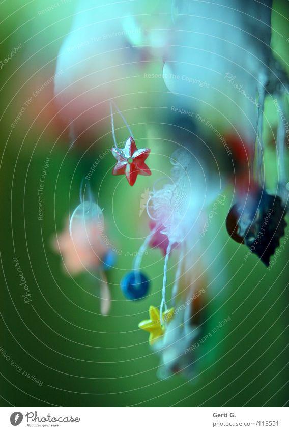 rabammel Weihnachten & Advent weiß grün blau rot Blatt gelb Farbe Feste & Feiern Kunst rosa Stern (Symbol) Stoff Handwerk Tiefenschärfe Tradition