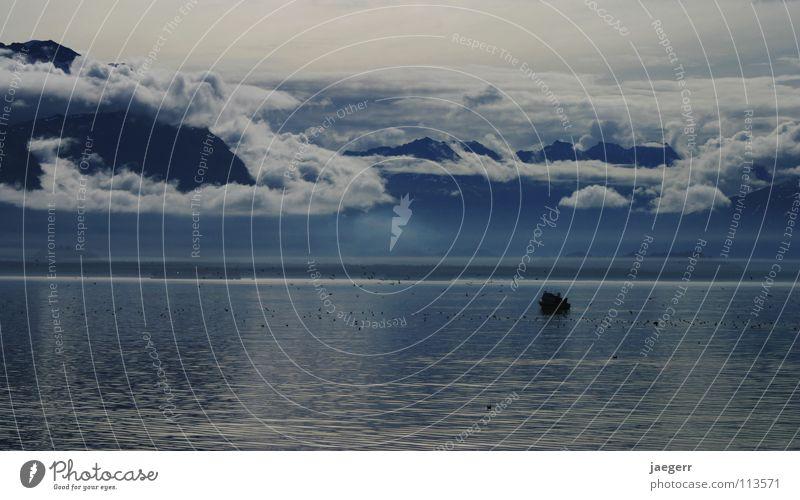 arctic blue Meer blau Berge u. Gebirge Landschaft Eis mystisch Fischerboot Alaska