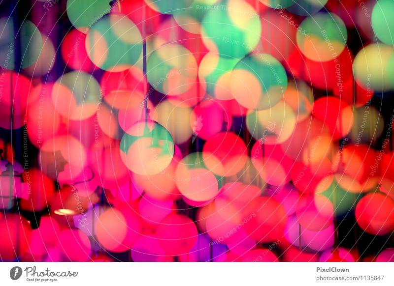 Alles so schön bunt hier elegant Stil Körperpflege Nachtleben Kunst Kultur Zeichen leuchten exotisch retro Stadt verrückt mehrfarbig grün rot Reichtum Mode