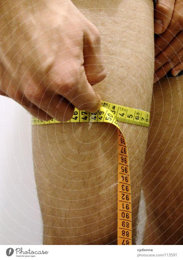 Nimm mich, wie ich bin! I Mensch Mann schön gelb Sport nackt Beine Körper Kraft Arme maskulin Erfolg Wachstum Macht Ziel Fitness