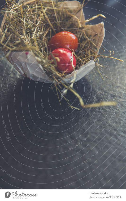 osternest osterei Lebensmittel Eierschale Nest Nestbau Stroh Ostern Osternest Ernährung Essen Lifestyle Reichtum elegant Stil Design Spielen Häusliches Leben