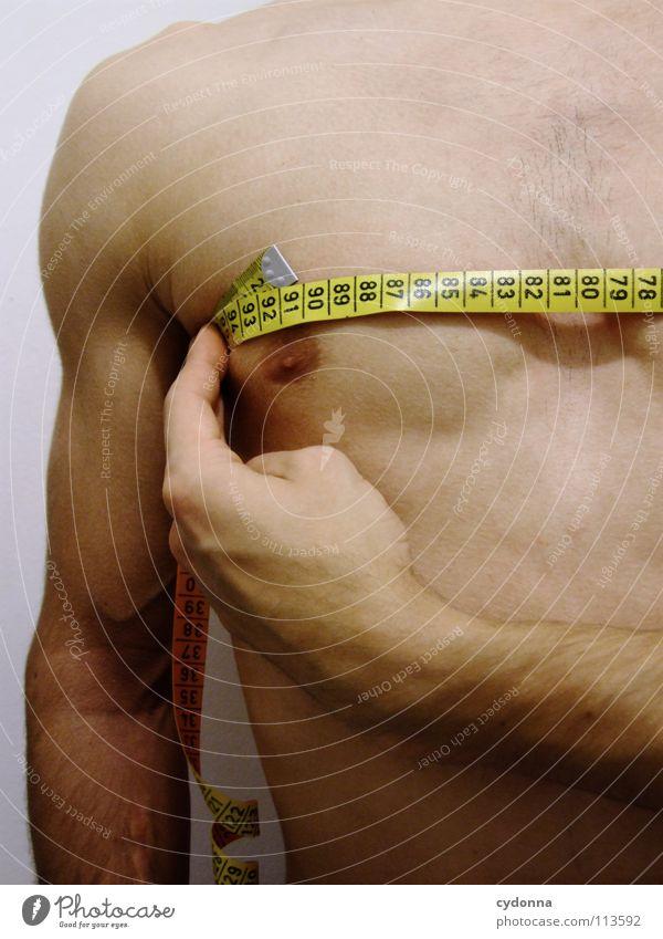 Nimm mich, wie ich bin! II Mensch Mann schön gelb Sport nackt Körper Kraft Arme maskulin Erfolg Wachstum Macht Ziel Fitness Brust