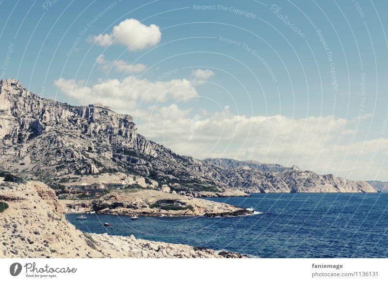 Merseilleveyre Himmel Natur Wasser Meer Landschaft Wolken Ferne Berge u. Gebirge Umwelt Wärme Frühling Küste Felsen Wellen Erde Wind