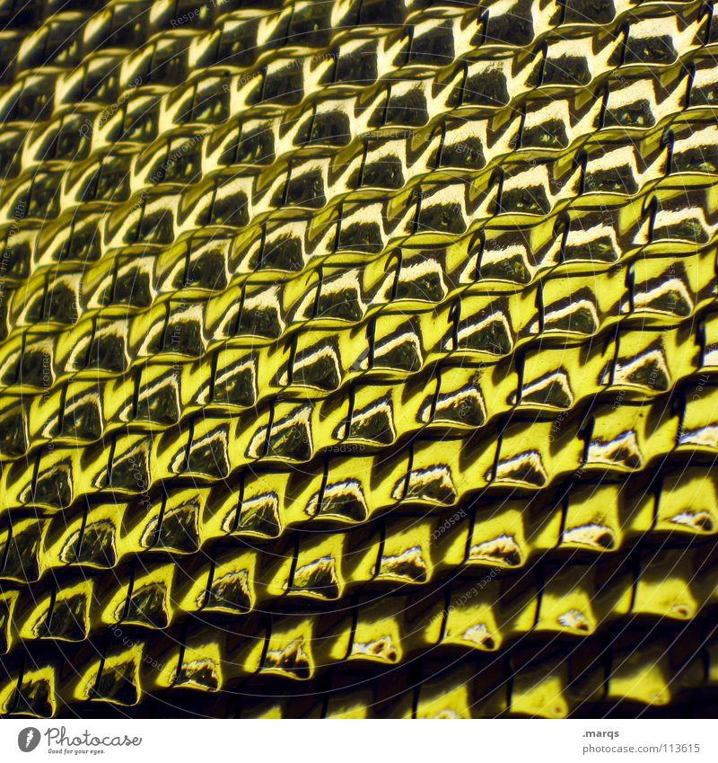Amarillo Strukturen & Formen Oberfläche Muster Glätte Geometrie Farbverlauf Verlauf Hintergrundbild glänzend Bruch Ecke Biene Zeile gelb schwarz weiß dunkel