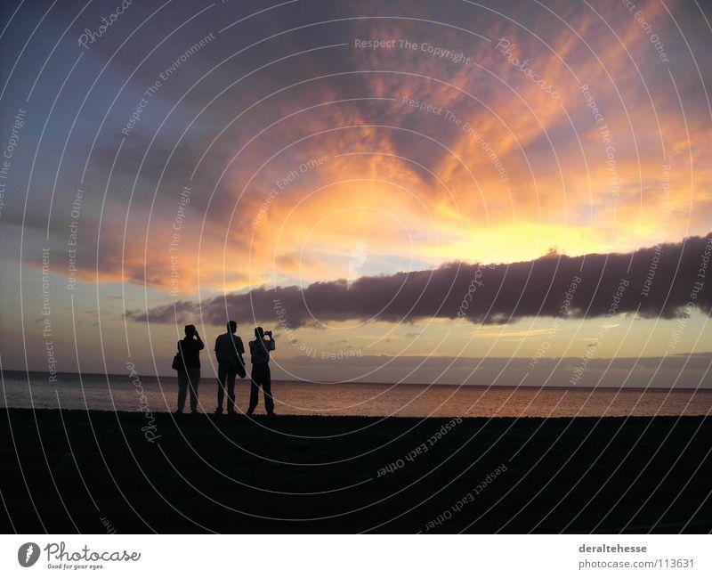 Sonnenuntergang schön Meer Sommer Strand Ferien & Urlaub & Reisen Erholung Neugier Fotografieren Gomera
