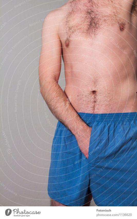Eingriff Mensch maskulin Junger Mann Jugendliche Erwachsene Brust Arme Bauch Oberkörper 1 18-30 Jahre Behaarung Brustbehaarung stehen ästhetisch Erotik schön