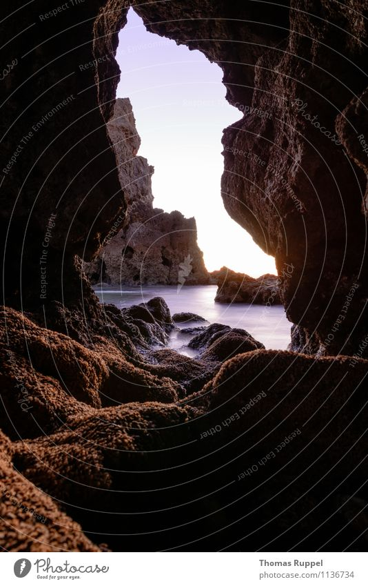 Schöner Ausblick Himmel Natur Ferien & Urlaub & Reisen Sommer Sonne Erholung Meer Landschaft Strand Umwelt Wärme Frühling Küste Felsen Wetter Zufriedenheit