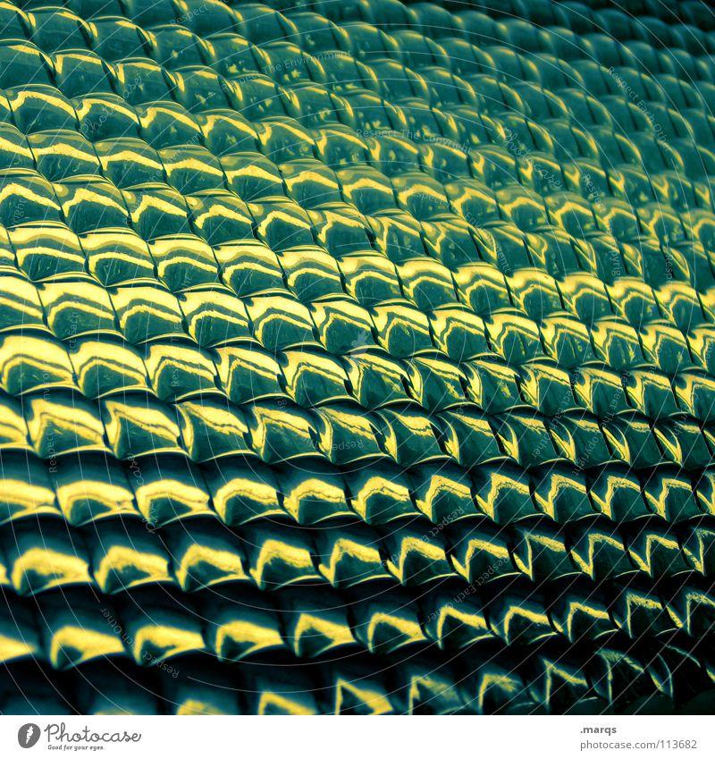 Gradient Strukturen & Formen Oberfläche Muster Glätte Geometrie Farbverlauf Verlauf Hintergrundbild glänzend Bruch Ecke Zeile gelb schwarz grün türkis dunkel