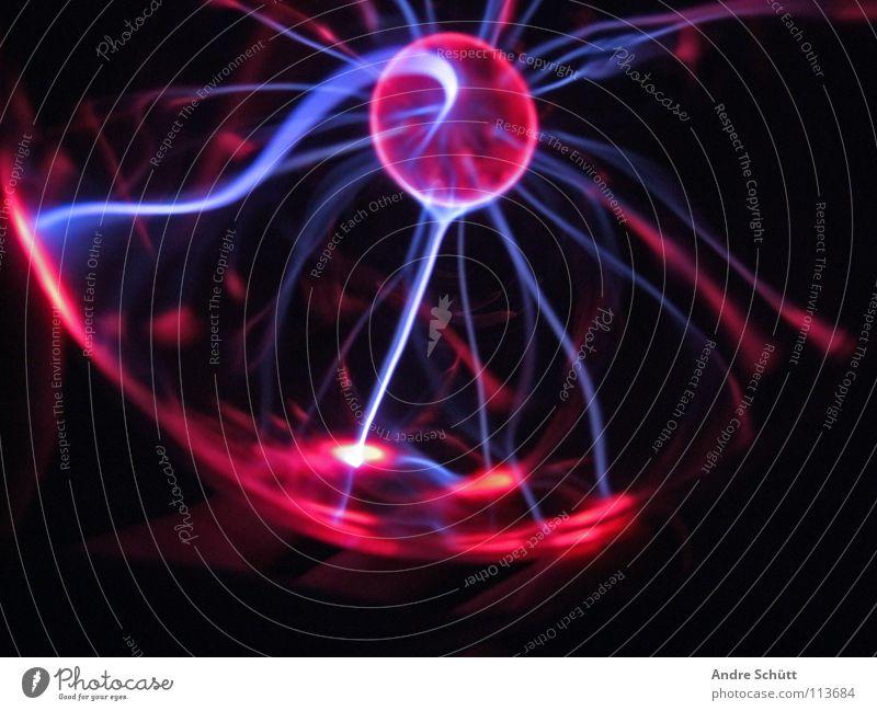 Electronized IV blau rot rosa Energiewirtschaft Elektrizität retro Zukunft Technik & Technologie Dekoration & Verzierung Physik Kugel Blitze mystisch Zauberei u. Magie elektronisch entladen