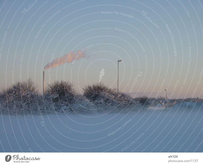 _winter-rauch Nebel weiß Rauch Morgen