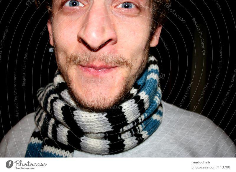 MEIN LIEBER INGO Mensch Mann Freude Gesicht Auge kalt lachen lustig Nase maskulin grinsen Typ Diskjockey Vorfreude Schal Entertainment