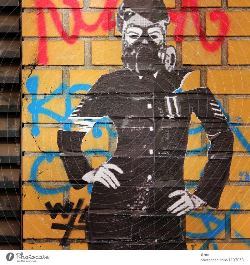 the unknown artist Mensch Graffiti feminin Stil Kunst Design stehen beobachten Vergänglichkeit Coolness Wandel & Veränderung Schutz Überraschung Mütze Konzentration Mut