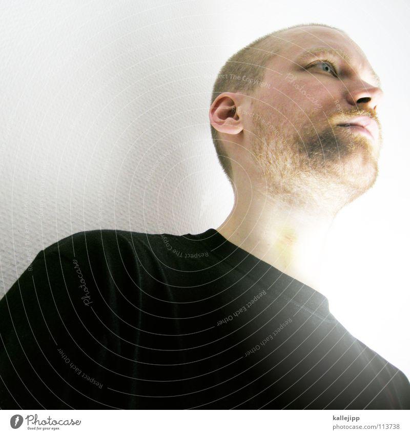 super-martin Mann Freude Auge Erholung Tod Gefühle Haare & Frisuren Denken träumen Mund Nase verrückt Coolness T-Shirt Sehnsucht Bart