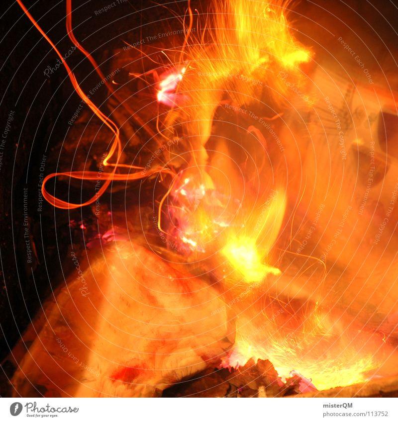 We don't need no water let the.... Brand brennen Licht heiß Physik gelb rot Holz Holzmehl Party vernichten zerstören vergessen gefährlich grell dunkel zündeln