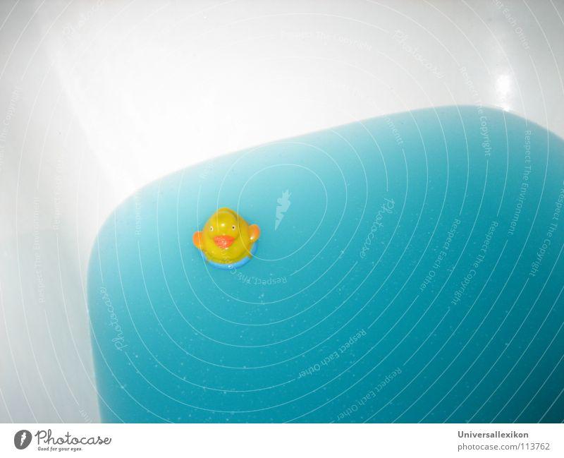 Quietsche-Entchen Badewanne gelb türkis Einsamkeit Schifffahrt Haushalt Badeente Wasser Schwimmen & Baden Im Wasser treiben