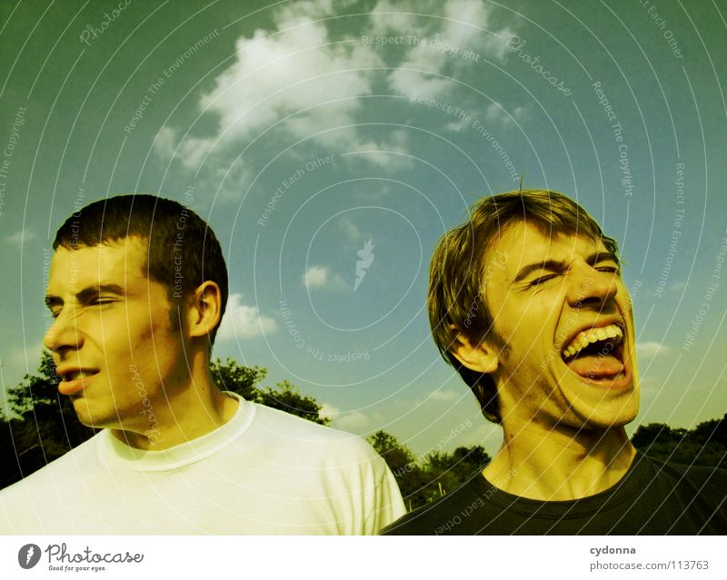 A-Hörnchen hat B-Hörnchen gehaun! Mensch Himmel Mann Natur Freude Sommer Wolken Spielen Gefühle Bewegung lachen Freundschaft 2 lustig verrückt Aktion