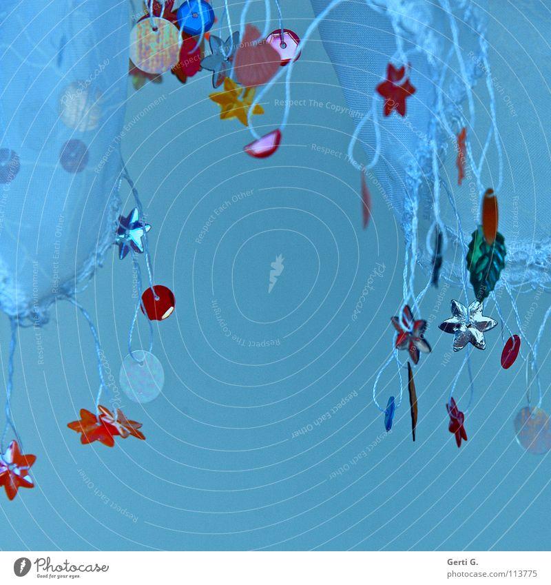 rabimmel Weihnachten & Advent weiß grün blau rot gelb Spielen Feste & Feiern Kunst rosa Stern (Symbol) Stoff zart Schnur Handwerk