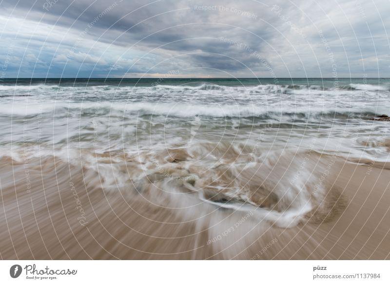 Wusch Ferien & Urlaub & Reisen Tourismus Ferne Freiheit Sommer Sommerurlaub Strand Meer Insel Wellen Umwelt Natur Landschaft Urelemente Sand Wasser Himmel