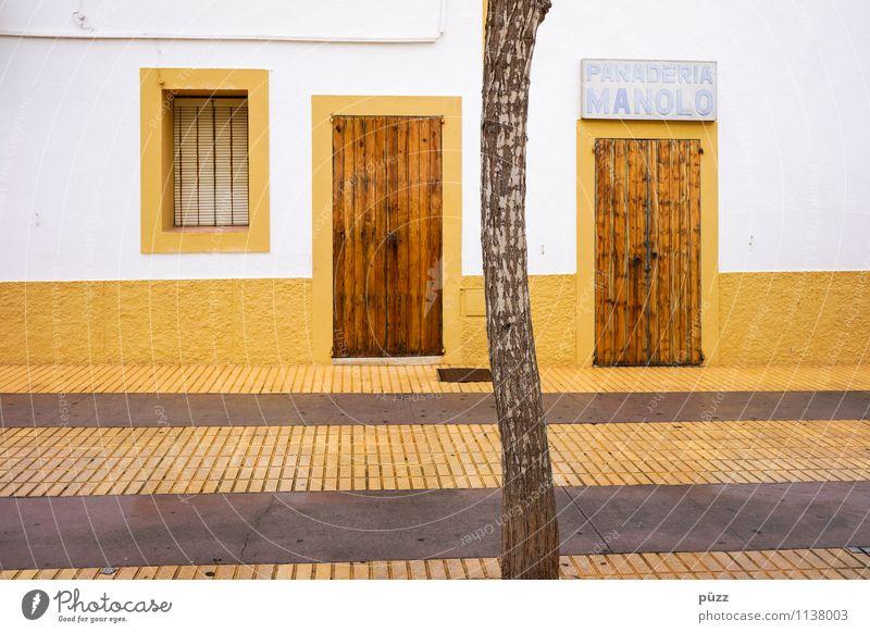 Manolo Ferien & Urlaub & Reisen Sommer weiß Baum Haus Fenster gelb Straße Wand Wege & Pfade Gebäude Mauer grau Tourismus Tür Ausflug
