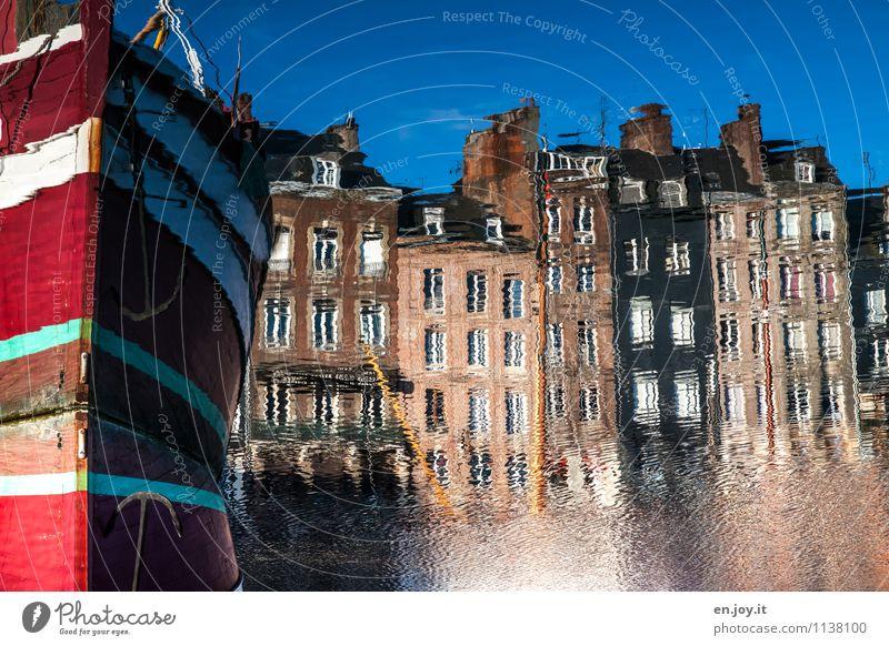 Atlantis Himmel Ferien & Urlaub & Reisen Stadt Sommer Wasser Haus Fenster Umwelt Fassade träumen Tourismus Schönes Wetter Hoffnung Hafen Skyline Wolkenloser Himmel